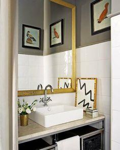 amazing zig zag art and bamboo frame