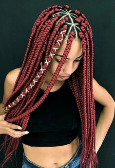 Triangle braids are box braids with triangular parts. Big, small, jumbo, poetic justice individual braids – we included all possible variants for you! individual Braids Triangle Braids: Taking Your Box Braids to the Next Level Box Braids Hairstyles For Black Women, African Braids Hairstyles, Braids For Black Hair, Braid Hairstyles, Latest Hairstyles, Braids For Black Women Box, Hairstyles 2018, Funky Hairstyles, Individual Braids Hairstyles