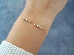 Gold Filled Ring Bracelet, Layering Bracelet, Minimalist Gold Bracelet, Layering Ring And Beads Brac Thin Gold Bracelet, Diamond Bracelets, Ring Bracelet, Jewelry Bracelets, Wedding Bracelets, Gold Ring, Pandora Bracelets, Jewellery, Simple Jewelry