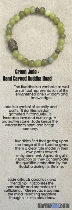 Jade is an ancient stone that has historically been used to attract love.  Jade is said to bless whatever it touches, serving mankind across the globe for nearly 6,000 years.  . . . #yoga #mala # bracelet