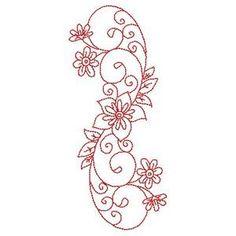 Redwork Florals