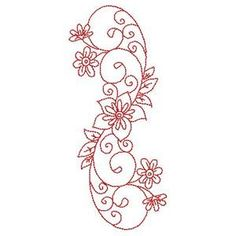 Embroidery Patterns Redwork Florals