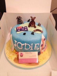 Australia theme birthday cake Www.meloscakes.co.uk