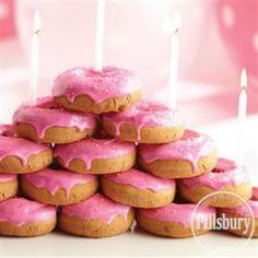 Hot Pink #Doughnut Pyramid from Pillsbury® Baking