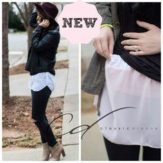 Shirt Extender Shirttail White or Black – Classic Dianne Fashion Mode, Diy Fashion, Ideias Fashion, Fashion 2015, Tween Fashion, Diy Clothing, Sewing Clothes, Refashioning Clothes, Sewing Hacks
