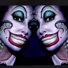 IG: Halloween Make-up - Ursula Joker Halloween, Cute Halloween Makeup, Halloween Inspo, Halloween Looks, Family Halloween Costumes, Halloween 2019, Fx Makeup, Cosplay Makeup, Costume Makeup