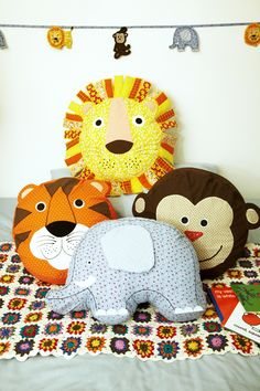 Kids animal cushions from £14.95 Kids animal bunting also available