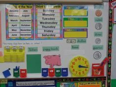 Great calendar math board for morning meeting in 1st grade!