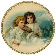 vintage-christmas-angels.png (1051×1044)
