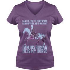 i am his eyes He is my wings I am his voice He is my spirit I am his human He is my horse - Guys Tee $23.00