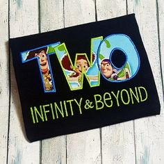 all white party So cute! TWO Infinity & Beyond Toy Story inspired birthday shirt - perfect for a Disney Pixar Birthday party! **I have a very limited supply of Jessie/Rex fabr 2nd Birthday Party For Boys, 2nd Birthday Boys, Second Birthday Ideas, Disney Birthday, Birthday Shirts, Cowboy Birthday, Frozen Birthday, Toy Story Birthday Cake, Geek Birthday