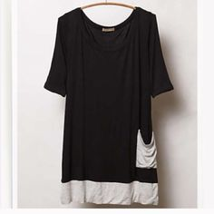 Soft buttery black top from anthropologie Never worn great with leggings and jeans Anthropologie Tops