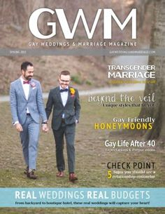 Get your digital edition of Gay Weddings and Marriage Magazine Magazine subscriptions and issues online from Magzter. Buy, download and read Gay Weddings and Marriage Magazine Magazine on your iPad, iPhone, Android, Tablets, Kindle Fire, Windows 8, Web, Mac and PCs only from Magzter - The Digital Newsstand.