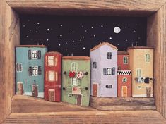 "42 Likes, 3 Comments - @nikastinyhouse on Instagram: ""Night #nikastinyhouse #tinyhouse #houses #colorful #balcony #street #night #moon #nightscene…"""