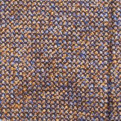 Handrolled Speckled Wool/Silk/Cashmere Tie - Blue/Brown
