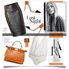 Last Night by marina-volaric on Polyvore featuring polyvore fashion style Jonathan Simkhai Gianvito Rossi Segolene Paris LARA Hedi Slimane
