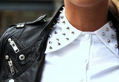 spike-embellished collar