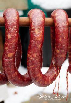 Garlic Sausage - Taste of Artisan Texas Sausage Recipe, Smoked Sausage Recipes, Homemade Sausage Recipes, Sausage Meals, How To Make Sausage, Sausage Making, Home Made Sausage, Jerky Recipes, Salami Recipes