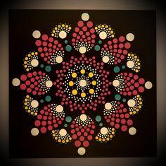 30 x 30 cm. Dot Painting, Acrylic Painting Canvas, Mandala Art, Etsy Seller, Dots, Hand Painted, Pattern, Crafts, Design