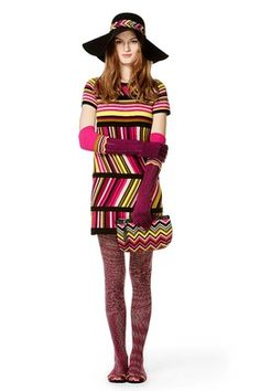 Missoni for Target: Sweater dress, $54.99; hat, $24.99; gloves, $19.99; clutch, $22.99; tights, $16.99 and ballet flats, $29.99. via WSJ #Missoni #Target