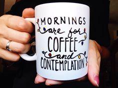 Stranger Things Coffee Mug, Mornings are for Coffee and Contemplation mug, Netflix Series, The Upsidedown, Stranger Things Gift by MeganPadovanoDesign on Etsy https://www.etsy.com/listing/461742812/stranger-things-coffee-mug-mornings-are