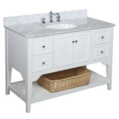 Washington 48 Inch Vanity (Carrara/White)