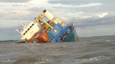 The Isla Bartolome aground off Ecuador.