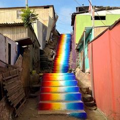Xomatok makes the world a little more colorful, one step at a time. This colorful staircase is in Lima, Peru.