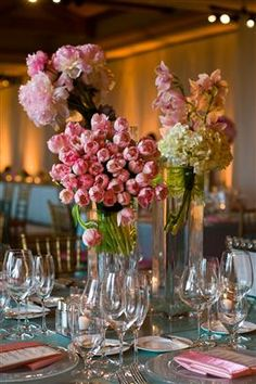 Like colors and modern presentation of table flowers. Half slanted in vase
