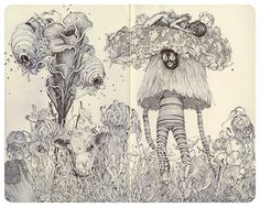 recent drawings from James Jean.