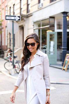 light blazer outfit
