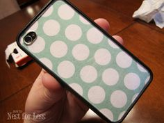 Buy a clear iPhone case and interchange scrapbook paper- P.S. Soooo many cool DIY ideas and home makeovers on this site!