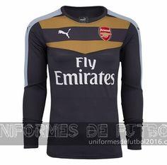 3933dc52952b7 Venta de Jersey local para uniforme del portero Arsenal 2015-16  22.90