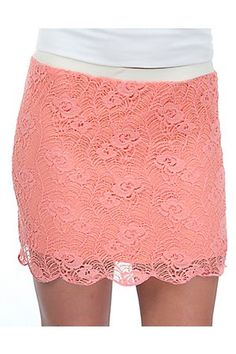 Freebird Ladies Coral with Lace Overlay Skirt.... I LOVVE mine :)