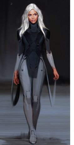 """Concept art of Storm from """"X-Men: Days of Future Past"""" (2014)."""