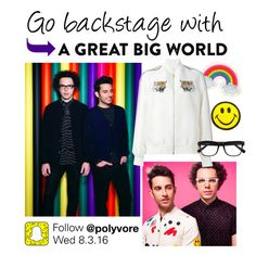 """A Great Big World Snapchat Takeover"" by polyvore-editorial ❤ liked on Polyvore featuring Orelia, STELLA McCARTNEY, Derek Lam, agreatbigworld and SnapchatTakeover"