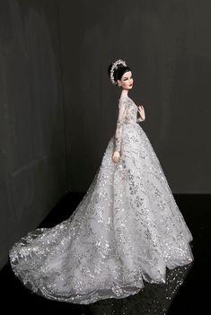 Fashion Royalty Minx - OOAK doll by Rimdoll - fullset Barbie Bridal, Barbie Wedding Dress, Wedding Doll, Barbie Gowns, Doll Clothes Barbie, Barbie Dress, Wedding Dresses, Fashion Royalty Dolls, Fashion Dolls