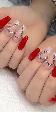 img) Want to see new nail art? These nail designs are really great Picture 69 101 Want to see new nail art? These nail designs are really great Picture 69 Nails design; Valentine's Day Nail Designs, Cute Acrylic Nail Designs, Nails Design, Heart Nail Designs, Coffin Nails Long, Long Nails, Long Nail Art, Red Acrylic Nails, Red Nails With Glitter