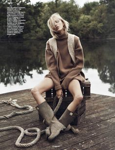 Into The Wild: Anja Rubik by Lachlan Bailey for Vogue Paris October 2014 #CampCollection #cozycamp