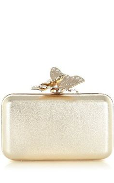 Karen Millen Metallic Butterfly Clutch