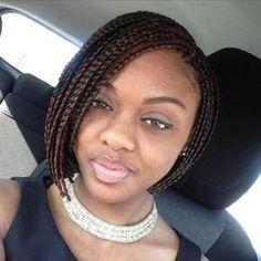 Short box braids bob wigs for black women human hair wigs lace front wigs african american women braided bob hairstyles Bob Box Braids Styles, Short Box Braids Hairstyles, Box Braids Styling, Braided Hairstyles For Black Women, Chic Hairstyles, Braid Styles, Curly Hair Styles, Natural Hair Styles, Twist Styles