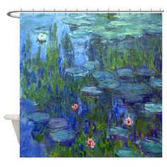 Monet - Water Lilies Shower Curtain on CafePress.com