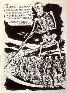 "German 1944 leaflet used on the Italian front depicting Franklin Roosevelt as ""Death"". Cold War Propaganda, Propaganda Art, Ww2 Posters, Poster Ads, History Teachers, World History, Illustrations And Posters, Cartoon Styles, World War Two"