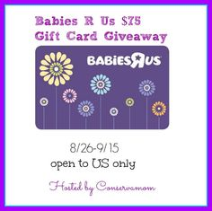 I have another exciting baby-related giveaway to bring to you today: A $75 Babies R Us gift card + Pampers wipes!
