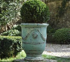 anduze + boxwood- the style of terra cotta just love it - beautiful piece!