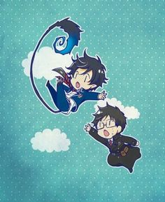 Rin & Yukio | Ao no exorcist | Blue exorcist | Anime | Chibi, Cute, Kawaii