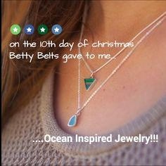 10th Day of Christmas-- A Girl can never have too much Ocean Inspired Jewelry!  https://secure.pagemodo.com/m/AXCUFA  IF YOU WANT TO ENTER YOU MUST CLICK on this link! Enter, share the post, please be kind & LIKE Betty Belts - Ocean Inspired Accessories & LIKE Samata's FB page (if you haven't already) & WIN!