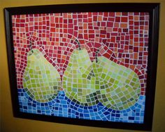 How to make  paper mosaic Pears