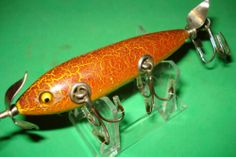 heddon 150 GE VINTAGE WOOD FISHING LURE nice fancy sienna dowagiac minnow