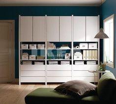 IKEA IVAR Painted White | Heath Ashli | Flickr Ikea Inspiration, Ikea Ivar Regal, Ivar Ikea Hack, Ikea Ivar Cabinet, Ikea Cabinets, Ikea Paint, Room Paint, Ikea Storage, Bathroom Storage
